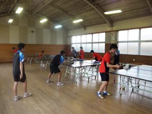卓球部練習風景
